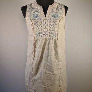Knox Rose Khaki Sleeveless Pull Over Dress Sz M